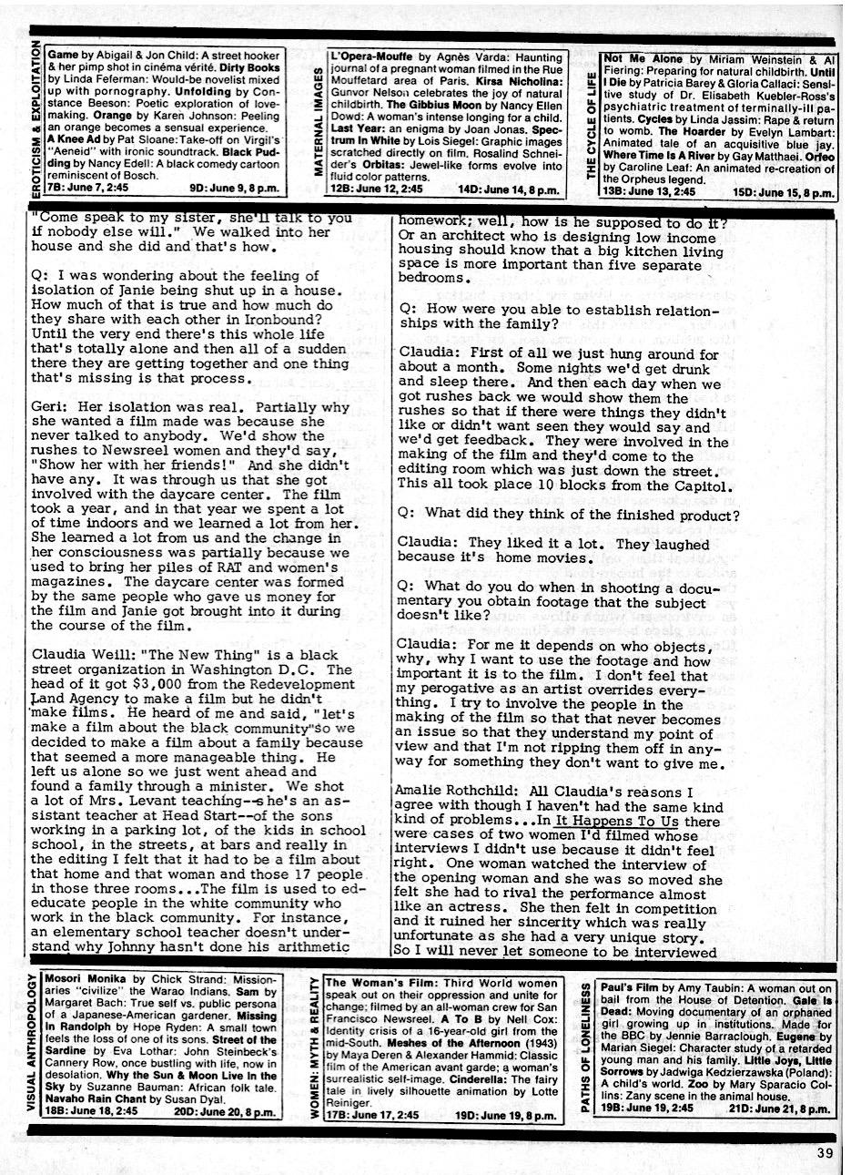 Women And Film 2 1972 P 39