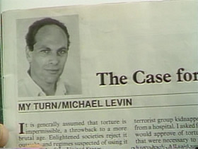 "a case for torture essay Michael levin's ""the case for torture"" argues that there are various reasons for allowing torture to exist in the united states of america levin would love to see society change its negative views on torture so that, under certain circumstances, torture would be permissible the article starts off with a very."