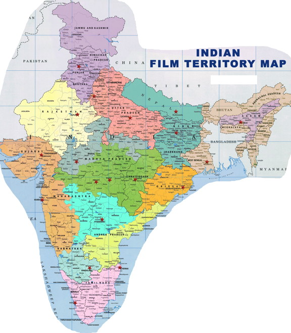 Image result for indian film distribution map
